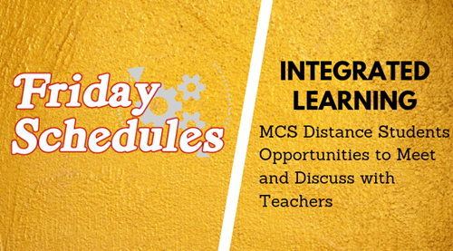 PiC: Suncrest Middle School Friday Integrated Learning Schedule