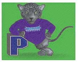North Elementary Logo of a Panther with the letter P.