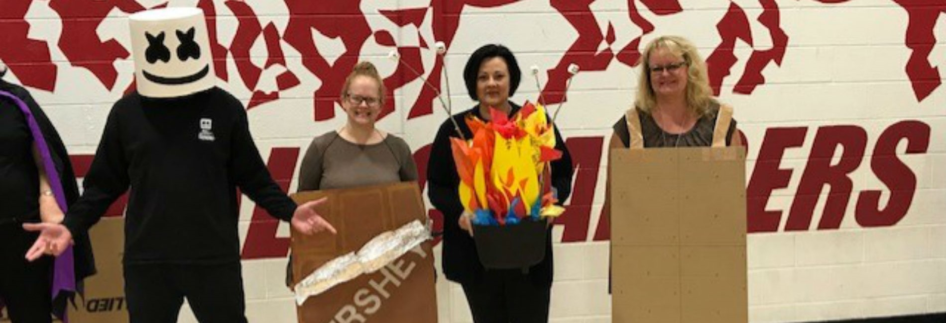 pic:  teachers dressed as smores