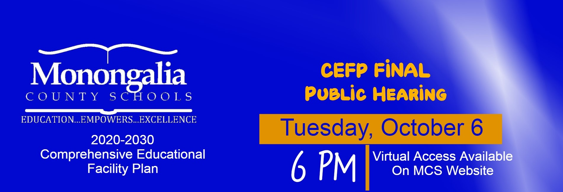 CEFP Public Hearing October 6 at 6pm